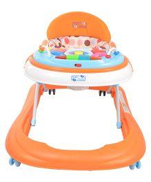 Baby Steps Premium Musical Baby Walker With Break Pads - Orange