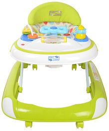 Baby Steps Premium Musical Baby Walker With Stopper - Green