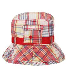 Little Wonder Checks Print Bucket Cap - Multicolour