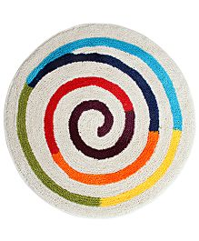 Saral Home Premium Quality Bath Mat - White And Multicolor