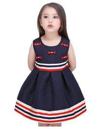 Peach Giirl Dress - Navy Blue