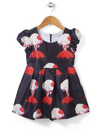 Peach Giirl Dress - Black & Red