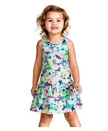 Peach Giirl Floral Dress - Multicolour