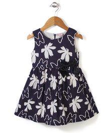 Peach Giirl Floral Dress - Black