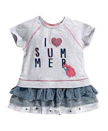 Peach Giirl Summer Dress - Grey