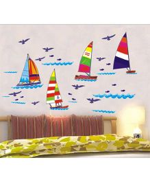 Studio Briana Sail Me Like A Bird Wall Art Decal For Bed Room - Multicolor
