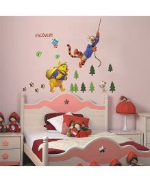 Studio Briana Pooh, Tigger and Buster in Iceland Wall Art Decal - Multicolor