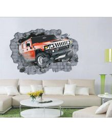 Studio Briana Hummer Breaking The Wall Art Decal - Multicolor
