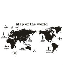 Studio Briana Continents on World Map Wall Art Educational Decal - Multicolor