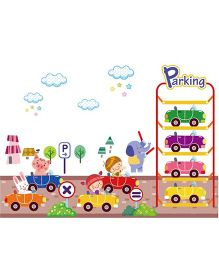 Studio Briana Alice In Wonderland Parks Her Car Wall Art Decal - Multicolor