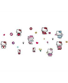 Studio Briana Hello Kitty Cute Wall Art Decal - Multicolor