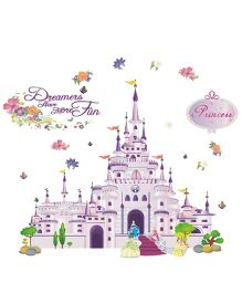 Studio Briana Princess' Dream Castle Wall Art Decal - Pink