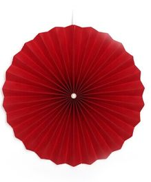 Planet Jashn Plain Paper Fan Pack of 3 - Dark Red