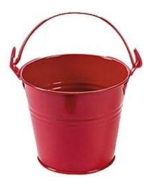 Planet Jashn Mini Metal Favor Buckets Pack of 8 - Red