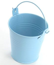 Planet Jashn Mini Metal Favor Buckets Pack of 8 - Blue