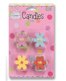 Planet Jashn Flower Shaped Candles - Multi Color