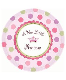 Planet Jashn Plates New Little Princess - 8 Pieces