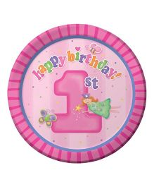 Planet Jashn Paper Plates First Birthday Print - 8 Pieces