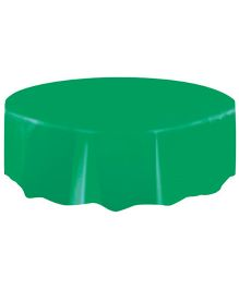 Planet Jashn Round Plastic Table Cover - Green