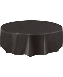 Planet Jashn Round Plastic Table Cover - Black