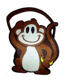 Planet Jashn Monkey Shaped Felt Bag - 1 Piece