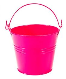 Planet Jashn Mini Metal Favor Buckets Pack of 8 - Dark Pink