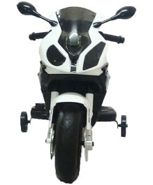 Like Toys BMW Bike Battery Operated Ride-On With Remote Control - White And Black