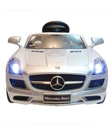 Like Toys Mercedes Battery Operated Ride-On With Remote Control - White