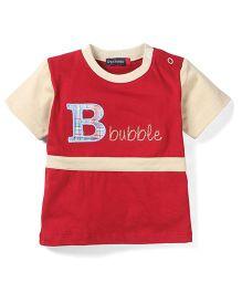 Great Babies Beach Print T-Shirt - Red