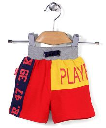Spark Casual Shorts Players 89 Print - Red