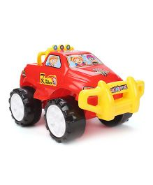 Lovely Friction Powered Monster Jeep Toy Car - Red