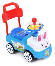 Kids Zone Funny Bunny Manual Push Ride On (Color May Vary)