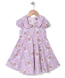 De Berry Lovely Rose Pattern Dress - Pink