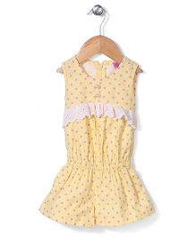 De Berry Polka Dot Jumpsuit - Yellow