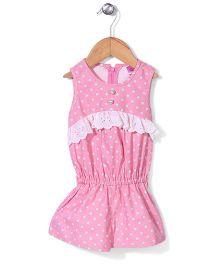 De Berry Polka Dot Jumpsuit - Pink