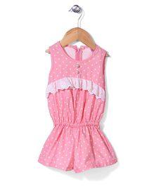 De Berry Polka Dot Jumpsuit - Pink & Yellow