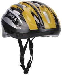 Super K Sports Helmet - Black And Golden