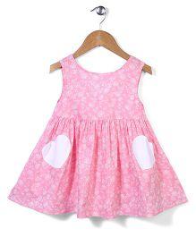 Bee Bee Flower Print Dress - Pink