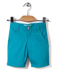 Bee Bee Solid Pattern Shorts - Blue