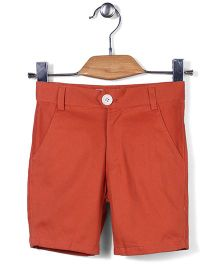 Bee Bee Solid Pattern Shorts - Orange
