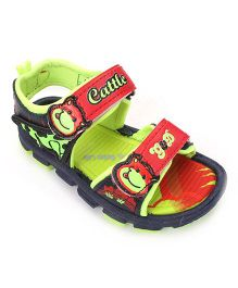 G & D Sandal With Dual Velcro - Neon Green