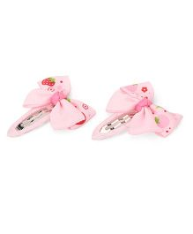 Angel Closet Strawberry Bow Hair Clips Pink - 1 Pair