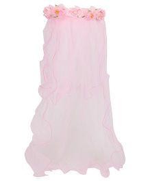 Anaira Princess Floral Veil - Pink