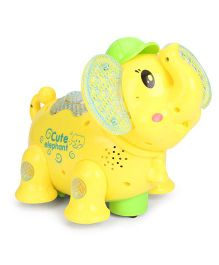Smiles Creation Musical Elephant Toy With Projection - Yellow