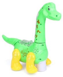 Smiles Creation Happy Dinosaur With Electric Flash Light - Green