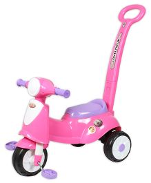 EZ' Playmates Italian Scooter With Navigator - Pink
