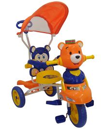 HLX NMC Tricycle Smart Bear With Canopy - Blue Orange
