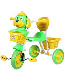 HLX NMC Puppy Design Tricycle - Green And Yellow