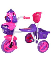 HLX NMC Puppy Design Tricycle - Pink And Purple