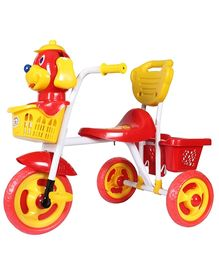 HLX NMC Puppy Design Tricycle - Red And Yellow